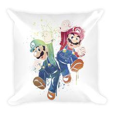 Mario X Luigi Throw Pillow