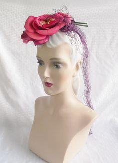 1940's Vintage Hair Piece Hat Fascinator with by MyVintageHatShop, $43.00
