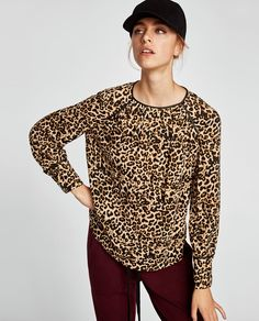 Image 2 of ANIMAL PRINT BLOUSE from Zara