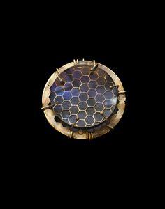 Honeycomb Brooch