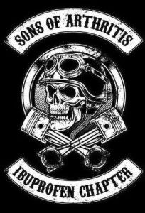 Sons of Arthritis provides the best old biker apparel collection and biker attire online having funny quotes. Buy biker T-shirts, biker hoodies, patches for old bikers on reasonable prices. Motorcycle Humor, Motorcycle Art, Motorcycle Patches, Motorcycle Posters, Moteurs Harley Davidson, Sons Of Arthritis, Rheumatoid Arthritis, Silkscreen, Totenkopf Tattoos