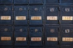 valscrapbook: PO Boxes by fantommst on Flickr.