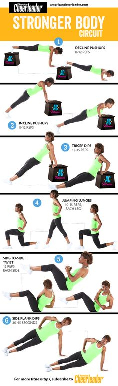 Our Stronger Body Circuit was designed specifically with cheerleaders in mind! #fitness