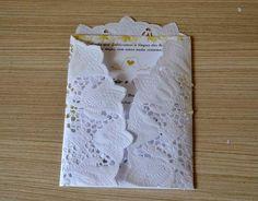 Tutorial - Convite de papel rendado 05