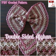 Share this: This double sided crochet blanket will have them hootin' and hollerin' about it's beauty. This is the perfect crochet baby blanket pattern! One side of the stitch looks oval shaped… Crochet Stitches Free, Afghan Crochet Patterns, Free Crochet, Stitch Patterns, Knitting Patterns, Baby Blanket Crochet, Crochet Baby, Flower Crochet, Crochet Boarders
