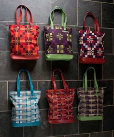 Welsh wool tote bags by the excellent Melin Tregwynt. Excellent recycling of Welsh woollen blankets.