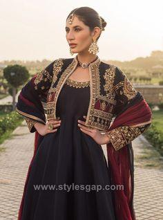Anarkali Dress, Anarkali Suits, Jacket Style, Shirt Style, Indian Jackets, Embroidered Jacket, Frocks, Designer Dresses, Fashion Dresses