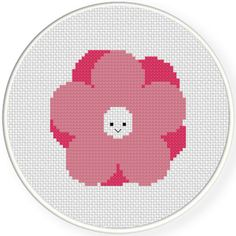 FREE for July 30th 2016 Only - Smiling Flower Cross Stitch Pattern