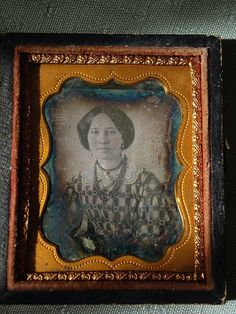 1850's Daguerreotype Of An Unknown Woman