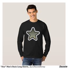 """Star"" Men's Basic Long Sleeve T-Shirt - Heavyweight Pre-Shrunk Shirts By Talented Fashion & Graphic Designers - #sweatshirts #shirts #mensfashion #apparel #shopping #bargain #sale #outfit #stylish #cool #graphicdesign #trendy #fashion #design #fashiondesign #designer #fashiondesigner #style"