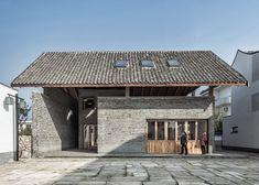 gad·line+ studio · Life under One Roof: Dongziguan Villagers' Activity Center Vernacular Architecture, Chinese Architecture, Interior Architecture, Architecture Details, Roof Design, Exterior Design, House Design, Affordable Housing, Activity Centers