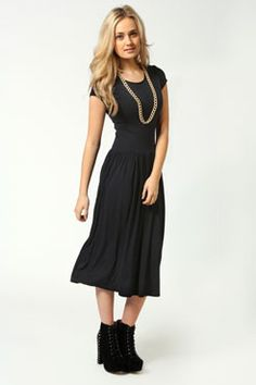 Lucy Cap Sleeve Tshirt Midi Dress