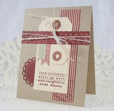 Handmade Greeting Card  Your Kindness Means So Much...PTI