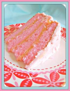 Pink Champagne Cake: Whatever the occasion, from birthday parties to a girls' night in, celebrate in style with this elegant pink champagne cake.   Substitute dish with fat-free or low-fat lactose-free milk to make it lactose intolerance friendly.