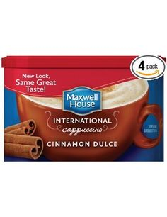 Maxwell House International Cafe Flavored Instant Coffee, Cinnamon Dulce Cappuccino, Ounce Canister (Pack of Coffee Mugs With Logo, Cheap Coffee Mugs, Maxwell House Coffee, Coffee Franchise, International Coffee, Coffee Delivery, How To Order Coffee, Cappuccino Machine, Italian Coffee
