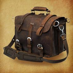 High quality genuine crazy horse leather by CrazyLeatherBag, $159.00