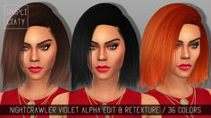 Nightcrawler Violet Hair Alpha Edit