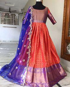 Stylish Blouse Design, Stylish Dress Designs, Stylish Dresses, Baby Girl Frocks, Frocks For Girls, Saree Dress, Silk Dress, Long Dress Design, Long Gowns