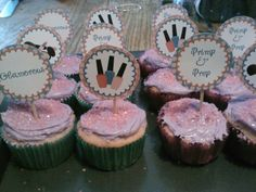 Vintage pink cupcakes wwwJustenoughDessertscom wwwfacebookcom