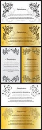 gorgeous europeanstyle pattern vector certificate template