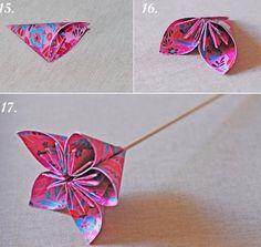 Origami Blumen basteln - Anleitung für stilvolle Dekoration                                                                                                                                                                                 Mehr