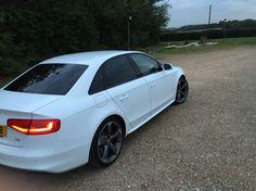 Audi A4 White s-line, black edition