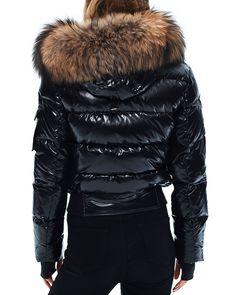 SAM. - Skyler Fur Trim Short Down Coat