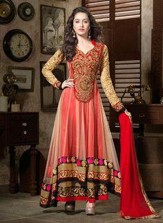 Shraddha Kapoor Red Net Anarkali