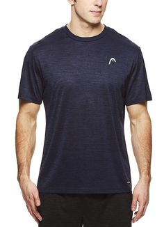 91fc716f3d4115 HEAD Men s Space Dye Hypertek Crewneck Gym Training   Workout T-Shirt -  Short Sleeve