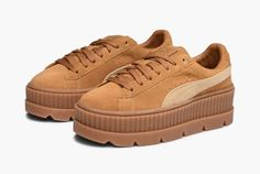 Details about Puma x Fenty Wmn Cleated Creeper Suede 366268 02 Womens Sneakers Trainer Brown show original title