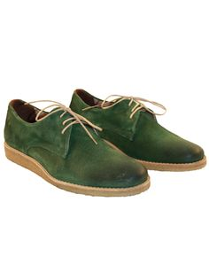 ROYAL REPUBLIQ - CAST CREEP WEDGE DERBY SHOE GREEN