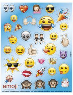 136 Pegatinas adhesivas Emoji™: Este lote incluye 136 stickers adhesivos con licencia oficialEmoji™.Hay 4 hojas de 15x12,5 cm.Miden entre 1,5…