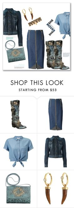 """Achy breaky heart..."" by bv-b ❤ liked on Polyvore featuring Double D Ranch, Christian Dior, Miss Selfridge, Dsquared2, Theodora Warre and Ettika"
