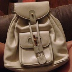 16ea76156bae Authentic vintage gucci backpack with a little wear on corners outside but  perfect on the inside
