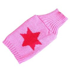 HP95 Hot! Pet Dog Crochet Red Star Knitted Dog Puppy Sweater Pet Jumper Apparel Clothes *** You can find more details by visiting the image link.