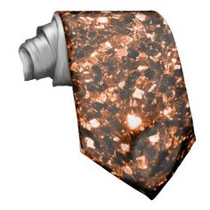 Sold for the 4th time! Thank you! #Beautiful #Bronze Orange Brown #glitters #sparkles Custom #Tie by #PLdesign #BronzeSparkles #SparklesGift #SparklesTie