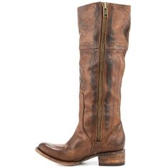 Wrang - Tan Freebird by Steven $394.99... Looooove the shape of these boots!!