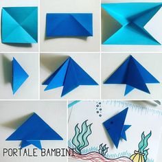 Head to the webpage to read more about Origami Models Origami Quilt, Instruções Origami, Origami Cards, Origami Star Box, Kids Origami, Origami Dragon, Origami Fish Easy, Origami Instructions, Origami Tutorial