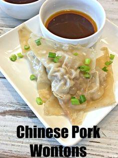 Chinese Pork Wontons