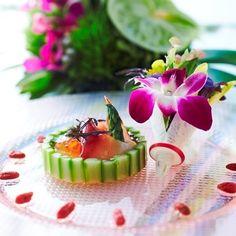 アルモニー ヴィラ オージャルダン|結婚式場写真「味はもちろん、盛り付けや香り、音や食管など五感で楽しめるお料理」 【みんなのウェディング】