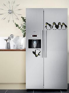 This fridge decal that will surely be a conversation piece for parties. | 23 Adorable Penguin Products You Need In Your Life