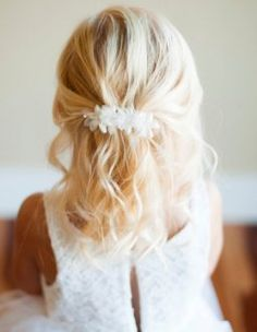 simple wedding flowers for hair | pictures flower girl wedding hairstyles