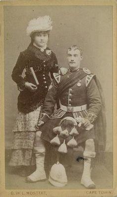 CDV Argyll Sutherland Highlander with medal wife Cape Town c 1880 Zulu War Victoria Reign, British Uniforms, Around The World In 80 Days, Men In Kilts, Highlanders, Crazy People, British Army, Historical Costume, British History