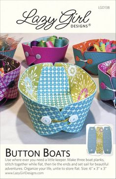 Lazy Girl Designs  » Quick Easter Basket Button Boats