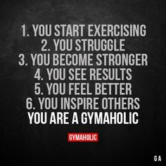 We inspire you to become the best version of yourself, physically and mentally Try our free Gymaholic Fitness Workouts App. Sport Motivation, Fitness Motivation Quotes, Health Motivation, Weight Loss Motivation, Workout Motivation, Humour Fitness, Gym Humor, Workout Humor, Health Fitness