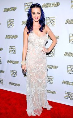 Katy Perry popped—almost all the way out—at the 2012 ASCAP Pop Music Awards at the Renaissance Hotel in Hollywood last night.