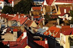 #Estonie - Toits rouges et cheminées de #Tallinn #Estonia