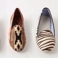 Anthropologie loafers- ballet flats older, more responsible sister.  :)  Love em....