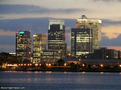 Canary Wharf, London, England- I worked in one of these skyscrapers on a trading floor.