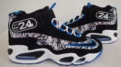 Nike Air Griffey Max 1 Trainer Shoes 354912-012 Photo Blue Black White Men 10.5 #Nike #AthleticSneakers